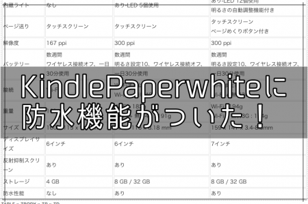【2018】Kindle Paperwhiteに防水機能がついたんだって。